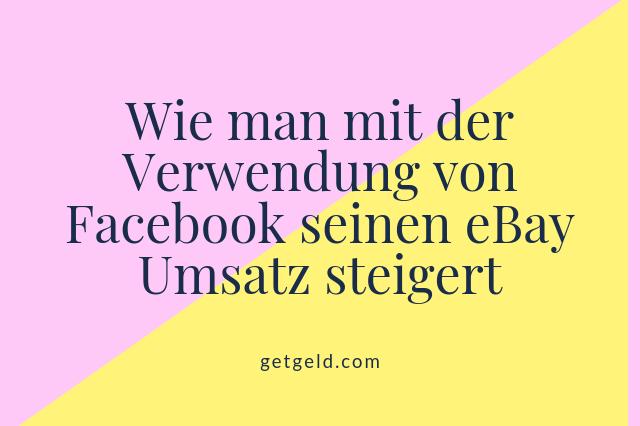 ebay - facebook